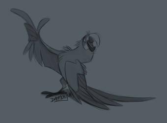Macaw by Daemonysh-Art