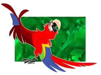 Scarlet Macaw by Daemonysh-Art