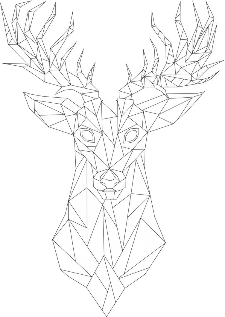 Geometric Deer by JulyShepard1995
