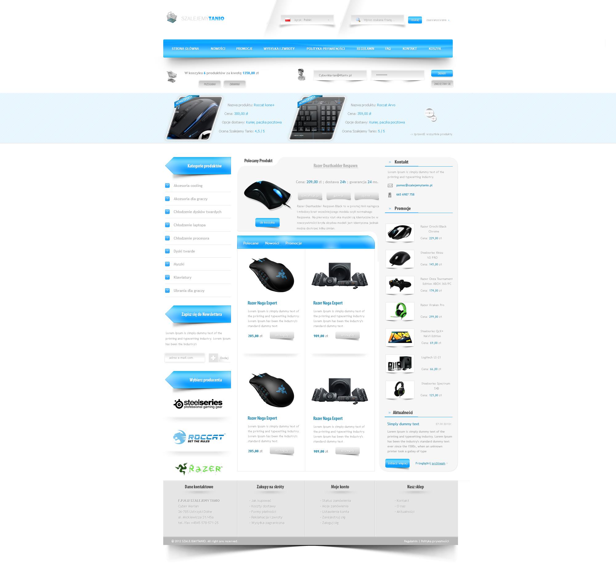 e-Shop //  SzalejemyTanio by trkwebdesign