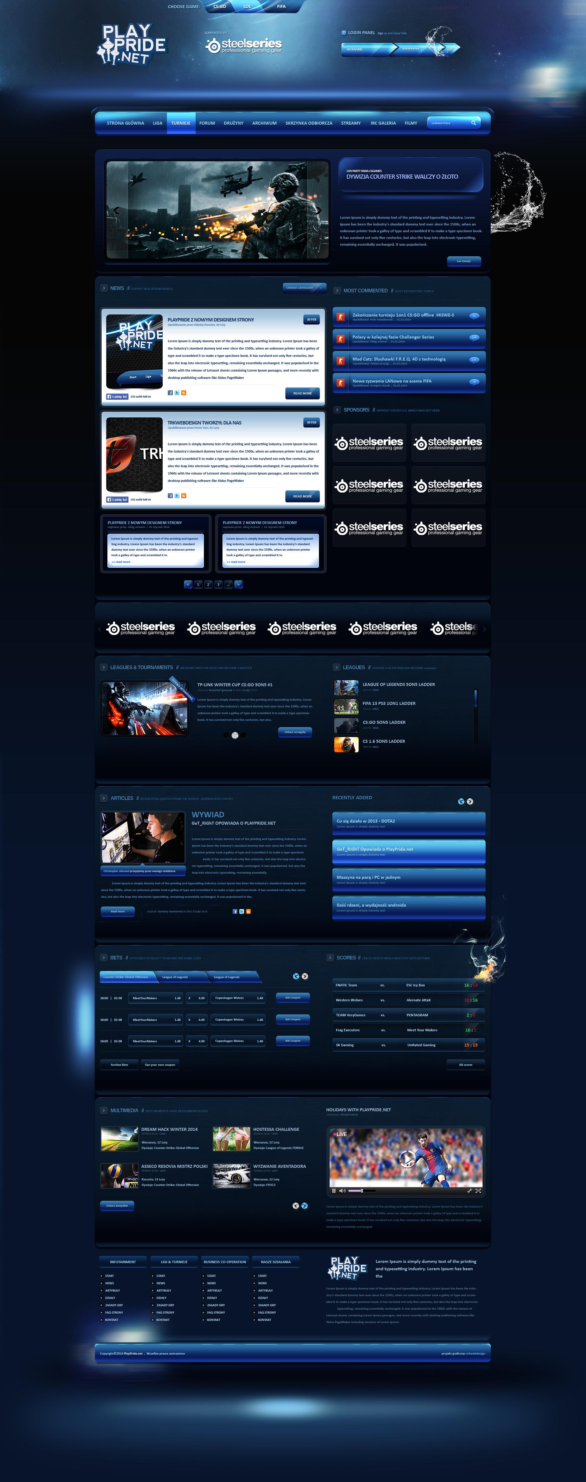PLAYPRIDE - eSport League and Portal News by trkwebdesign
