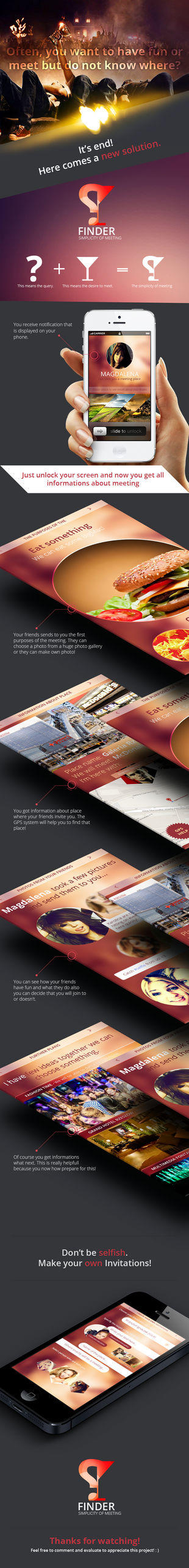 FINDER - Mobile Applications by trkwebdesign