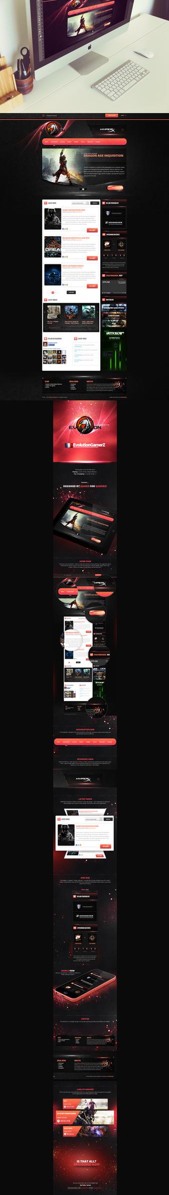 Evolution GamerZ by trkwebdesign