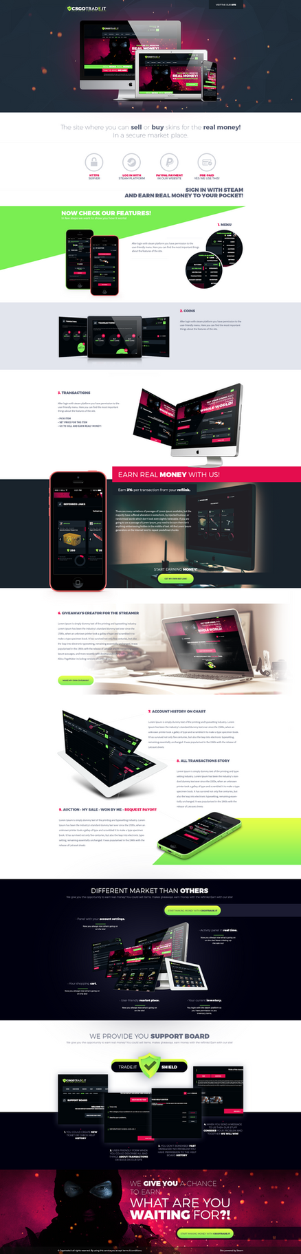Landingpage about CSGOTRADE.IT/about by trkwebdesign on ...