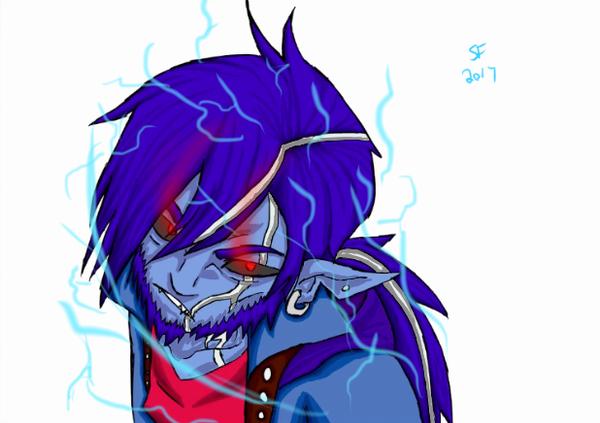 Crackling Rage: Teival [Timelaps](comission) by Darkstar2004