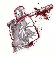INKTOBER - Walking Dead: Negan  by Art-of-MAS