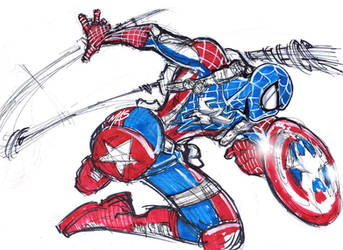 CAPTAIN SPIDER SKETCH by Art-of-MAS