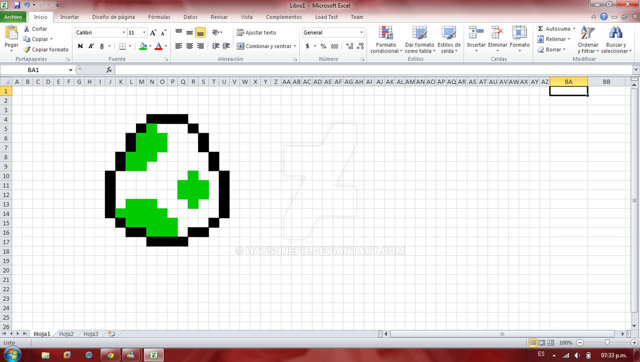 how to change pixel in excel