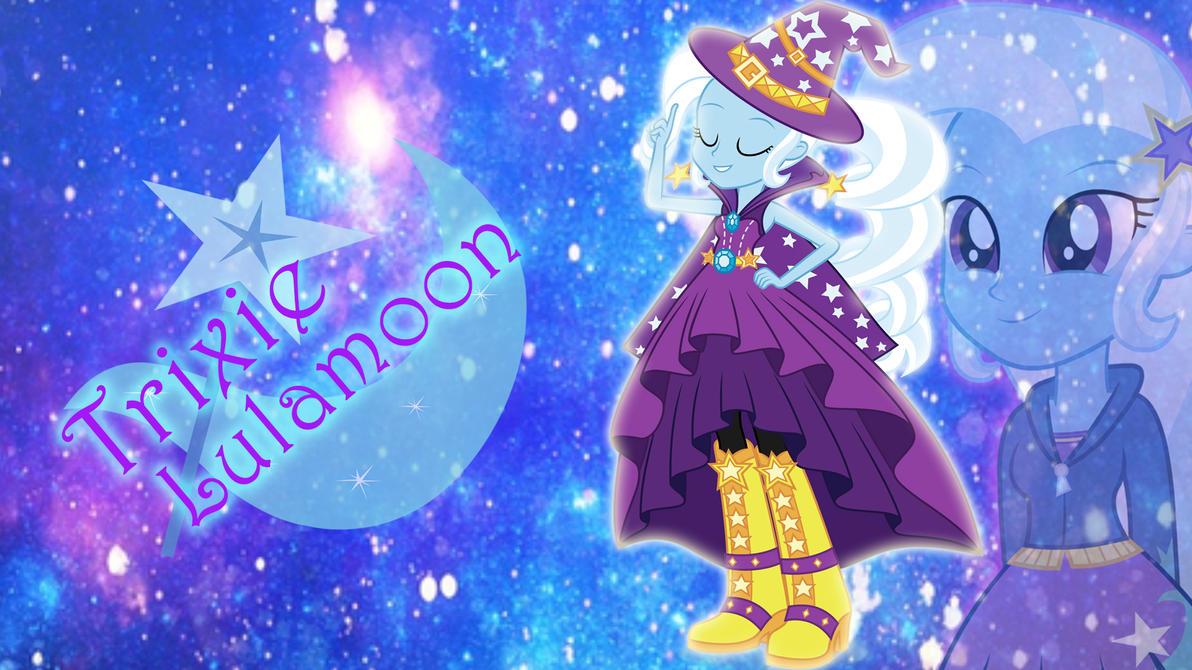 Trixie Lulamoon - Rainbow Rocks Wallpaper by Hatsunepie