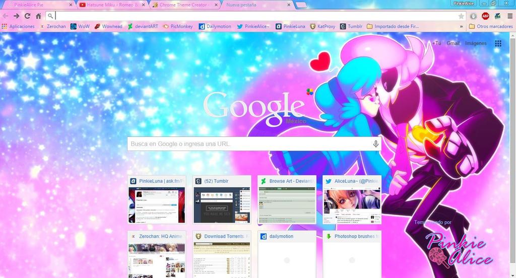 Cuz' it's you i love the most - Chrome Theme by Hatsunepie