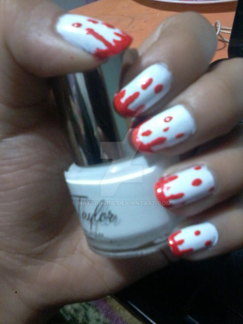 Bloody Nails - Nail Art by Hatsunepie