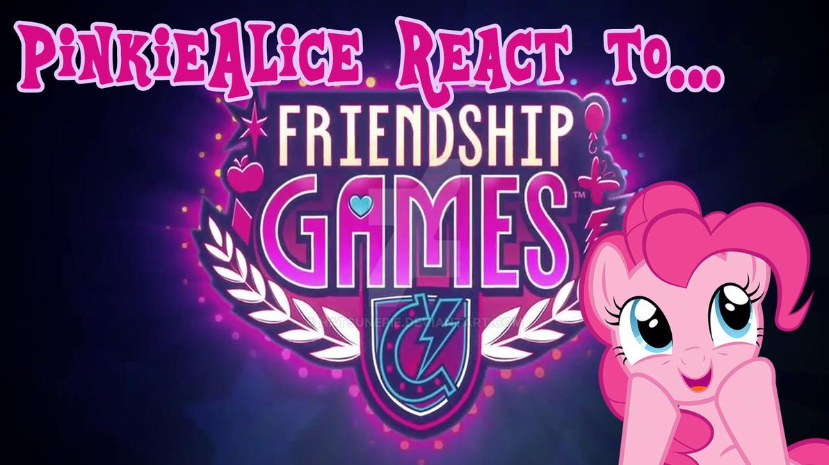 PinkieAliceReact- EqGirls:FriendshipGames Trailer by Hatsunepie