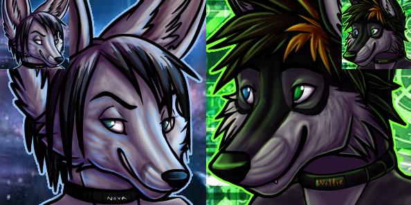 Nova and Wolfie icons by Khamisu