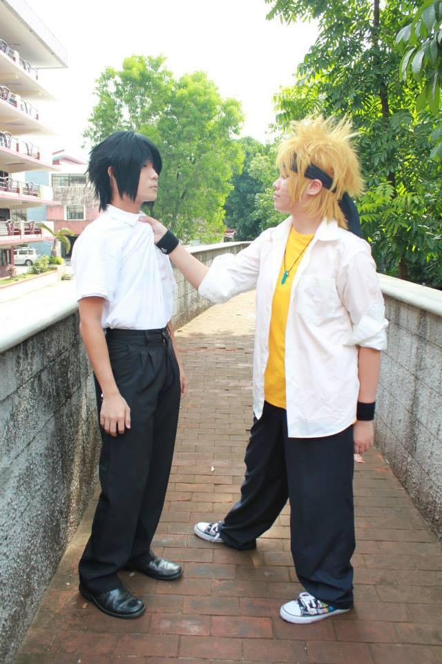 Naruto and sasuke school fight by madansenki on deviantart