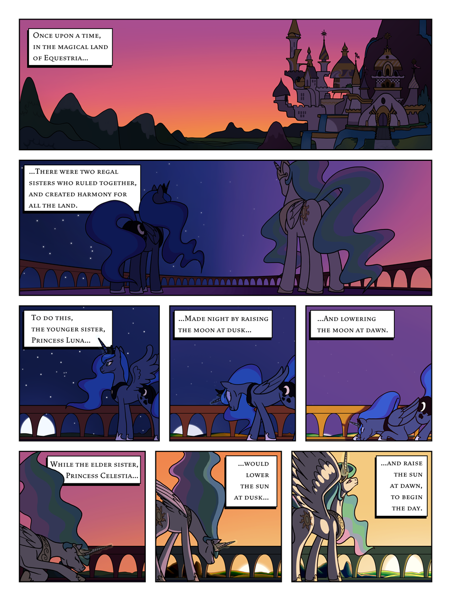 FiM: TNtMD - Page 01: The Rulers of Equestria by ArofaTamahn