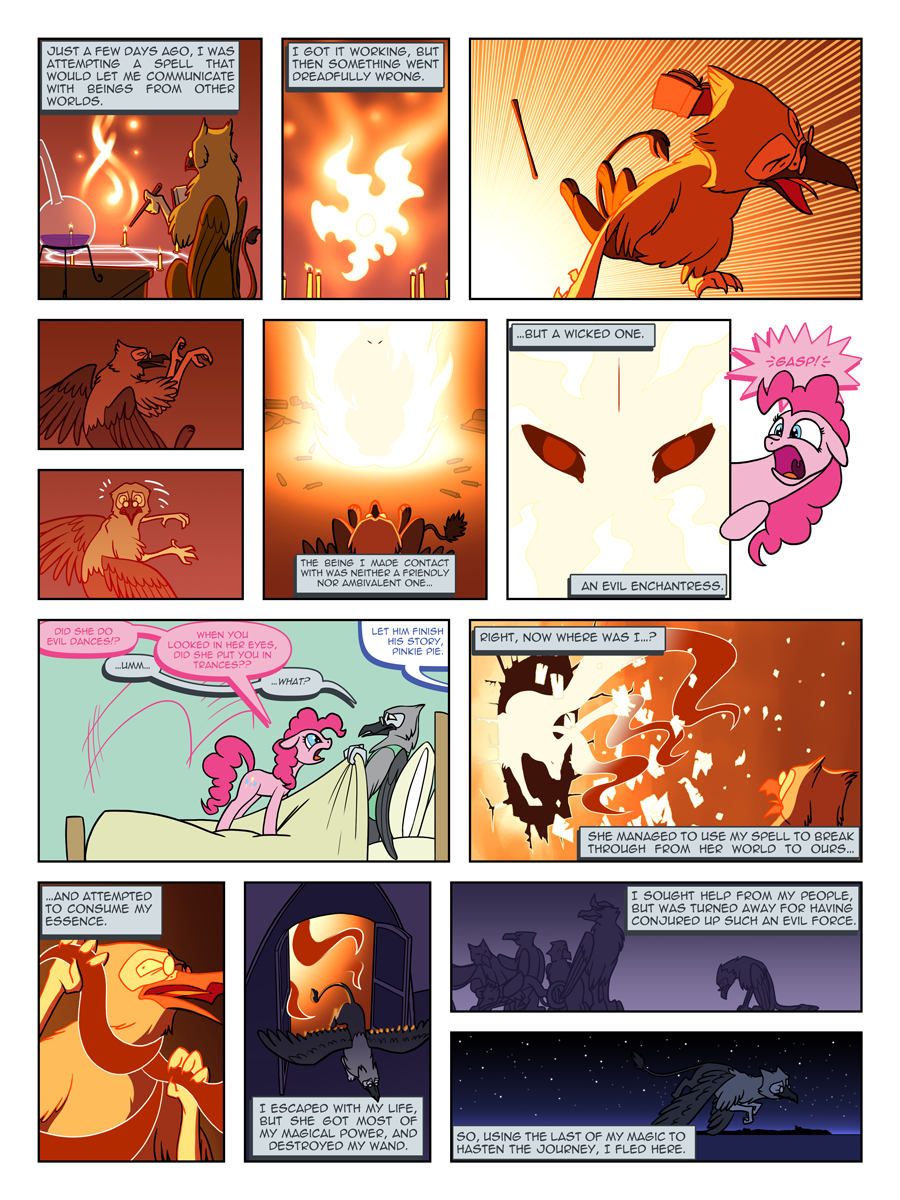 FiM: TNtMD - Page 12: 4th and 5th wall breakdown by ArofaTamahn