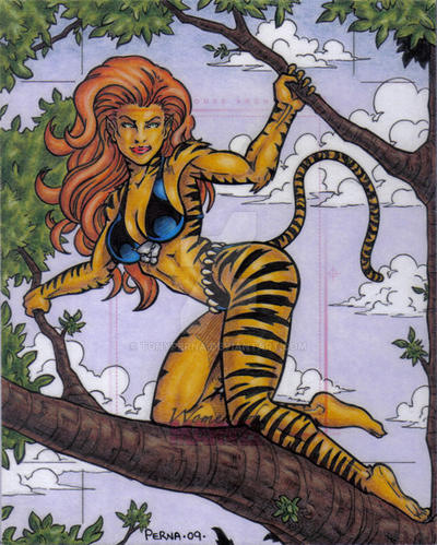 Women of Marvel Tigra AP by tonyperna