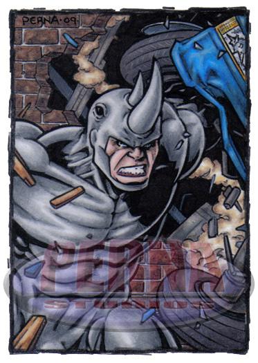 Rhino Sketch Card by tonyperna