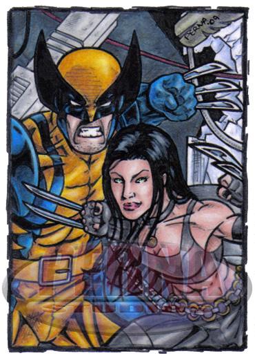 Wolverine X-23 Sketch Card by tonyperna