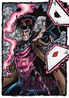 Gambit Sketch Card by tonyperna