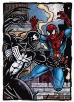 Venom VS Spider-Man by tonyperna