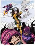 Rogue VS Sentinels Color Art