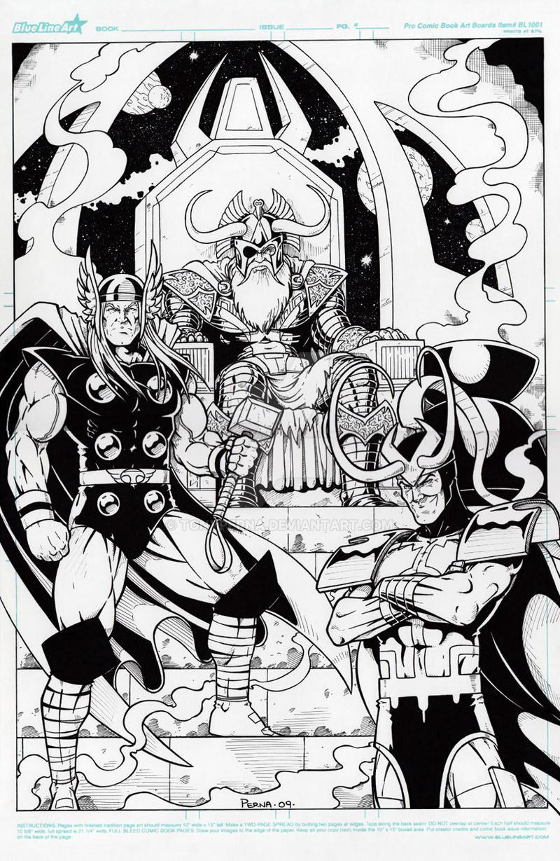 Thor Odin Loki by tonyperna