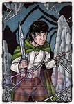 Frodo Sketch Card by tonyperna