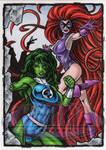 She-Hulk Medusa Sketch Card