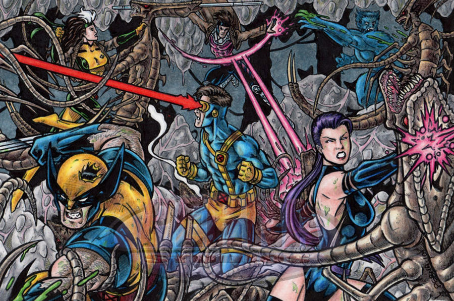 X-Men Blue Team by tonyperna