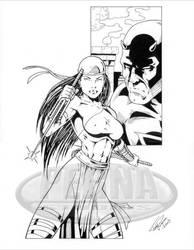 Elektra Daredevil by tonyperna