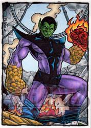 Super Skrull Sketch Card by tonyperna