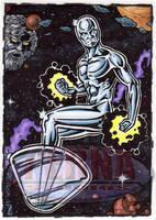 Silver Surfer Sketch Card by tonyperna