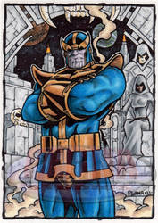 Thanos Sketch Card by tonyperna