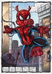 Spider-Ham Sketch Card