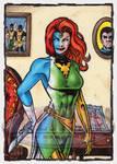 Mystique Sketch Card