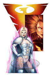 White Queen Dark Phoenix Color Print