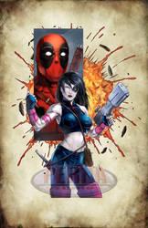 Domino Deadpool Color Print
