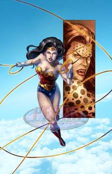 Wonder Woman Cheetah Color Print
