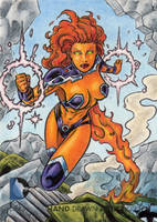 DC Comics 'The New 52' - Starfire by tonyperna