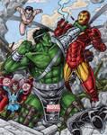 World War Hulk vs The Illuminati