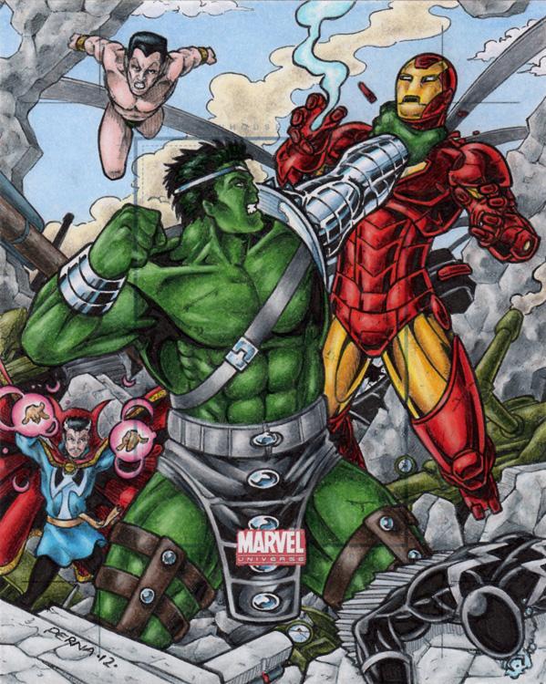 World War Hulk vs The Illuminati by tonyperna
