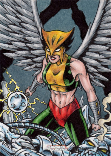 DC: Women of Legend - Hawkgirl by tonyperna