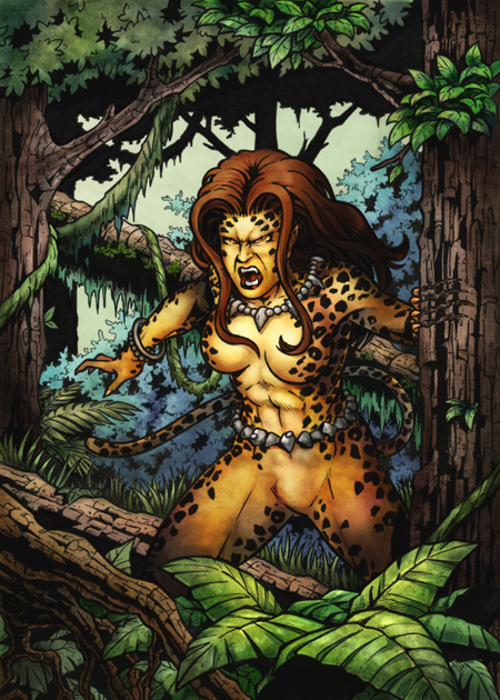 DC: Women of Legend - Cheetah Base Card Art by tonyperna