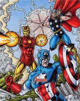 Captain America, Iron Man + Thor - MGH by tonyperna