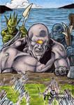 Balor Fomorians Sketch Card - Classic Mythology II
