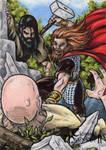 Thor Sketch Card - Classic Mythology II