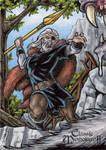 Odin Sketch Card - Classic Mythology II
