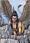 Sphinx Sketch Card - Classic Mythology II