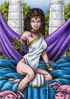 Circe Sketch Card - Classic Mythology II by tonyperna